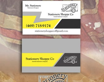 Stationery, Business cards, Electrician, Printable business cards, Prinables, Download, Lightning bolt, Electric, Electrician Company