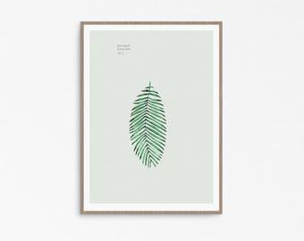 Botanical Poster, Plants are friends, botanical set, watercolor print, botanical illustration, botanical art, botanical collection, leaf art