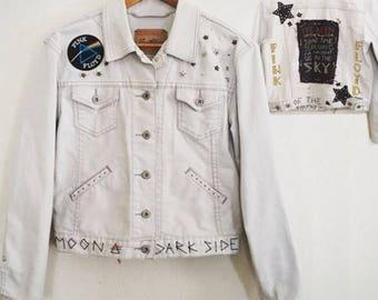 Levi's Pink Floyd Dark Side of the Moon Custom Studded Jacket