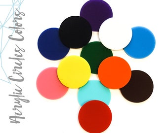 """25 Acrylic Circle Blanks  - ( Select size and colors)  1/8"""" Thick - laser cut With Polished Edges Plexiglass"""