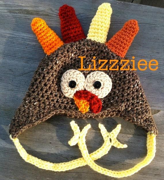 Turkey Crochet Hat Pattern Pdf Easy Beanie Or Earflap Hats