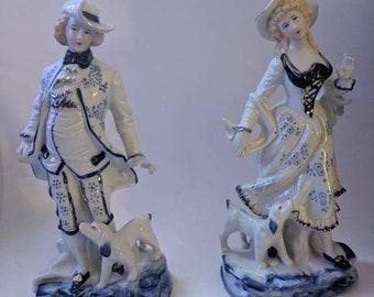 ON SALE Vintage Pair of Figurines