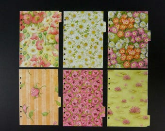 """Laminated divides - A5 - """"Be honest, be nice, be a flower"""""""