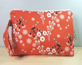 Fox Glove Flower Travel Wedge Project Bag