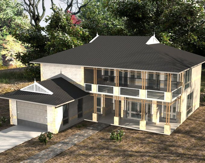 House Design For Sale - Concept plans /315.3 m2 /4043 sq feet/  6 Bed + Study + Modern House Design