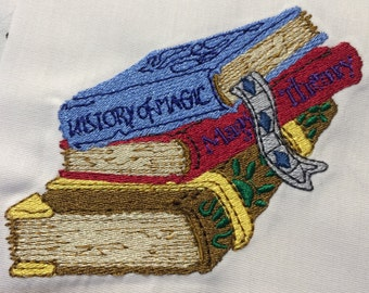 Magic Books Machine Embroidery Design 4x4