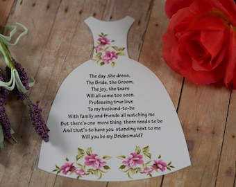 Will You Be My Bridesmaid Card , Bridesmaid Card Bridesmaid Proposal Dress Shape Card ,Ask Bridesmaid , Dress card, Matron of Honor
