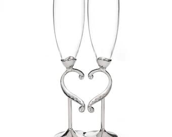 Linked Love - Wedding Flutes