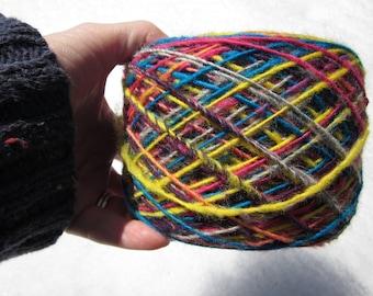 Laines de Handspun Yarn lumineux Multicolor 1 pli 5 oz