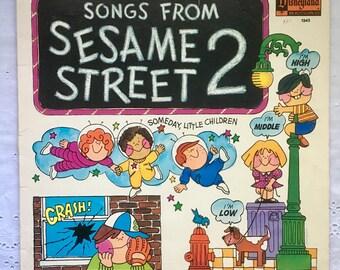 Disneyland Childrens Songs from Sesame Street 2 Vinyl LP 1972 Record Album VG #sing #SesameStreet