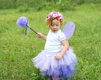 Purple Flower Fairy Costume - Fairytale Dress Up Outfit - Purple Fairy Costume - Childrens Fairy Costume - Fairy Tutu  sc 1 st  Etsy & Pink Flower Fairy Costume Toddler Dress Up Toddler Fairy