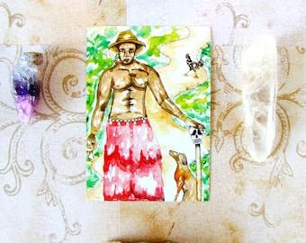 Papa Legba Prayer Card Altar Art Voodoo Art Fantasy Art Hoodoo Eleggua Art Pagan Art Spiritual Art Voodoo Print Santeria Art Voodoo Altar