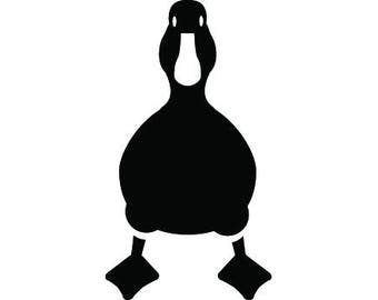 Duck Standing Bird Cute, Animals In The Wild Beak Feather Quacking .SVG .EPS .PNG Vector Space Clipart Digital Download Circuit Cut Cutting
