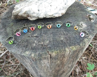 DRAGON EYE RINGS-Only 9 left in stock! You choose color! Limited Supply!