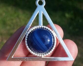 Blue Stripes Agate Horcrux Pendant
