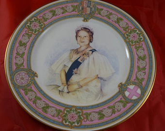 Caverswall Bone China Plate to Mark 80th Birthday of Queen Mother (1980) limted edition 1927 of 2000