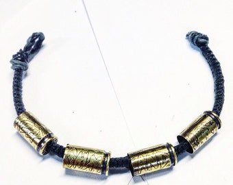 MADE TO ORDER Keep calm and carry brass bracelet 9mm