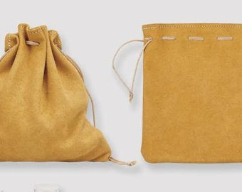 """Dice Bags: Leather Pouch (7"""" x 8"""")"""