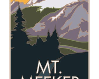 Mt. Meeker Poster Rocky Mountain National Park