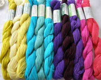 11 colors 3Ply triple strand Persian Wool Needlepoint Tapestry Yarn 440 yards Variety Pack new vintage stock crewel embroidery