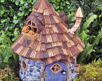 Shingletown Cone Top Fairy House for Miniature Garden, Fairy Garden