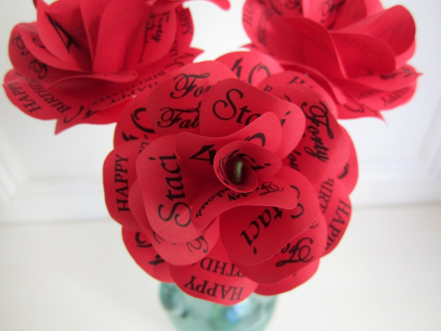 Personalized Paper First Anniversary Birthday Decoration Or