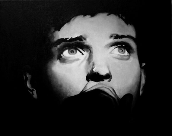 Ian Curtis Fine Art Print Joy Division Unknown Pleasures