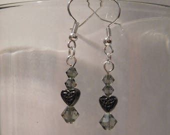 Smokey Celtic Heart Earrings
