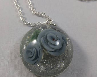 Blue Roses Pendant