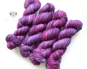 The House of Mirth Hand Dyed Semi Solid Aran Yarn