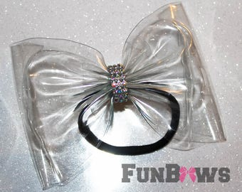 VERY Unique Invisible Allstar Cheer Bow - Yes Invisible ! - By FunBows !