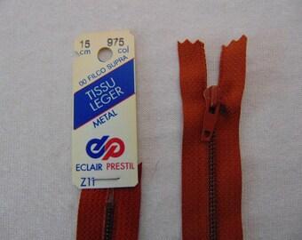 Zip closure, metal, caramel brown (Z11 975)