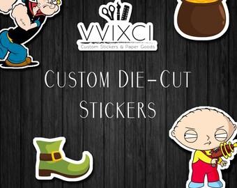 Custom Die-Cut Stickers - Die-Cut Labels - Contour-Cut Stickers -  Stickers are cut to the shape of the image!
