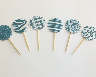 Cupcake Toppers, Dessert Decoration, Treat Toppers, Bake Sale, Cupcake Bar, Wedding, Party, Bridal Shower, Baby Shower