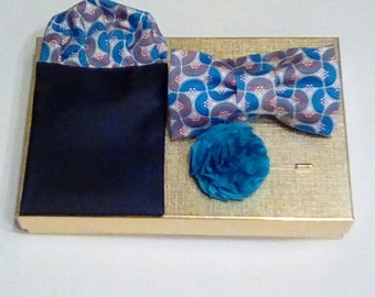 Handcrafted Bow Tie Set