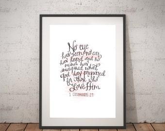 No Eye Has Seen-- 1 Corinthians 2:9