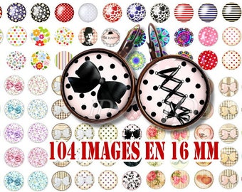 16 MM Digital Collage Sheet Printable Instant Download for art jewelry scrapbooking bottle caps magnets pins