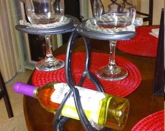 5/17/18! SALE!! Wine bottle and Glass Holder