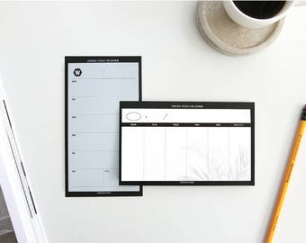Sticky Weekly Planner / Weekly Diary / Sticky Memo pad / 2colors[White,Blue] / D-06 / 1674435