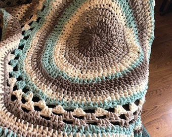 Crocheted soft throw