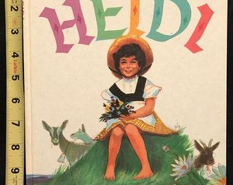 Johanna Spyri's Heidi - 1961 Grosset & Dunlap Book #0376