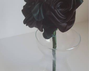 Black Ribbon Rose Posy