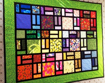 """Quilt Pattern -57""""X 72""""- Stained Glass by Sew4Fun Australia"""