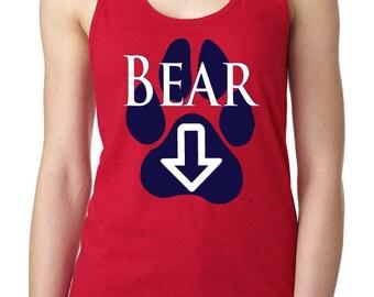 Ladies Bear Down Paw Racer Back