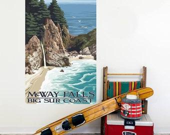 McWay Falls Big Sur California Wall Decal - #60884