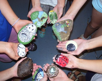 Rock Painting class for kids 8 years old and up