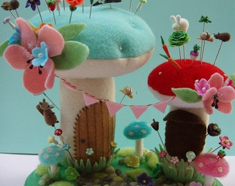 Woodland Wonderland Pincushion and Pin Toppers