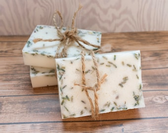Goat Milk Soap, Handmade All Natural Peppermint Lavender, The Goat Fetching Soap