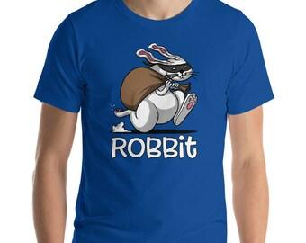 Rabbit Thief Tee - Bunny Clothes - Forest Rabbit Tee - Mens Rabbit Tee - Robbit - Rabbit Shirt - Rabbit Clothes - Bunny Tee - Cute Bunny
