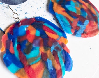 Mildred 'Festival' Large Dangles, Statement Earrings, Light, Fun, Colourful